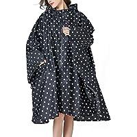 Impermeabile Antipioggia Donna Poncho con Cappuccio Sciolto Giacca a da Pioggia Peso Leggero Mantella all'aperto Giacche…