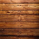 YongFoto 1,5x1,5m Vinyl Foto Hintergrund Holzwand Brown Wood Distressed Rustikale HolzHolz Bretter Fotografie Hintergrund für Photo Booth Baby Party Banner Kinder Fotostudio Requisiten