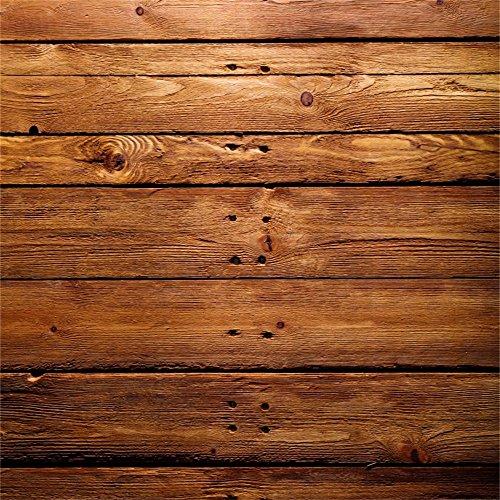 YongFoto 3x3m Vinyl Foto Hintergrund Holzwand Brown Wood Distressed Rustikale HolzHolz Bretter Fotografie Hintergrund für Photo Booth Baby Party Banner Kinder Fotostudio Requisiten