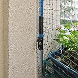 Halterung für Katzenschutznetz, Befestigung Katzennetz am Fenster oder Balkon, Spannstangen 4 Größen 0,65m - 3,75m, ohne Bohren zum Klemmen