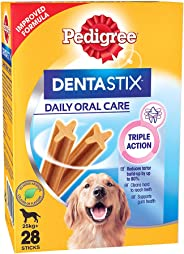 Pedigree Dentastix  Large Breed (25 kg+) Oral Care Dog Treat (Chew Sticks) (28 Sticks) 1.08kg Monthly Pack