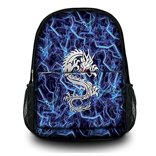Preisvergleich Produktbild New Fashion Leinwand,  Mehrzweck-Rucksack für Büro,  Reise,  Schule 40, 6 cm Outdoor Rucksack Specialized,  gepolstertes Laptop Fach Lightning Dragon