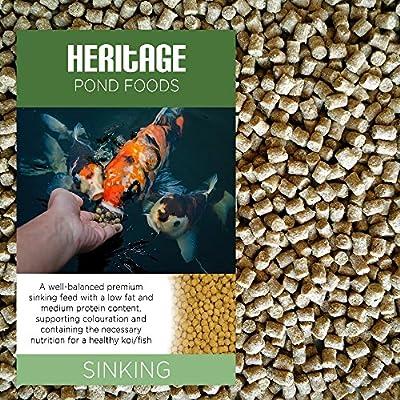 Heritage Premium Sinking Health Koi Fish Food Pellets Pond Feed Goldfish
