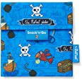 Roll'eat - Snack'n'Go Kids   Bolsa Merienda Infantil Porta Sandwich Reutilizable y Ecológico sin BPA, Piratas Azul