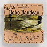 Natural Life Half Boho Bandeau Green & Yellow Tie-Dye