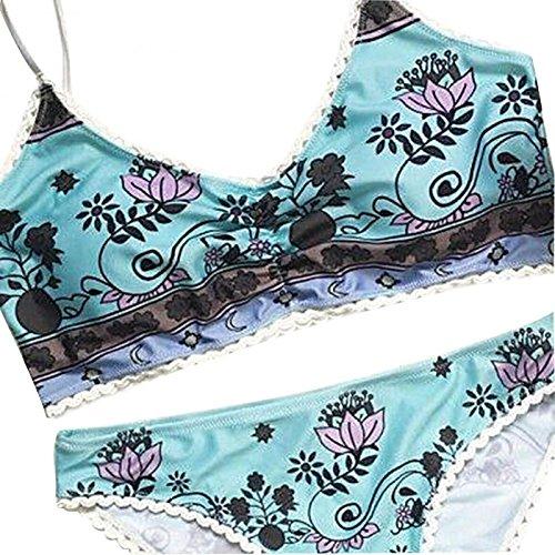 Vandot Donne Ragazze Estate Beachwear Sexy Costume Da Bagno stampato Fasciatura delle bohemian bikini Spiaggia A Triangolo swimear Push Up swimsuit imbottito, Taglia(S/M/L/XL/XXL) Colore6