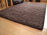 Soft Touch Shaggy Chocolate Thick Luxurious Soft 5cm Dense Pile Rug. Available in 7 Sizes (133cm x 190cm)
