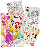 Unbekannt Sticker & Malblock -  Disney Princess - Prinzessin  - Incl. Name - Malbuch /..