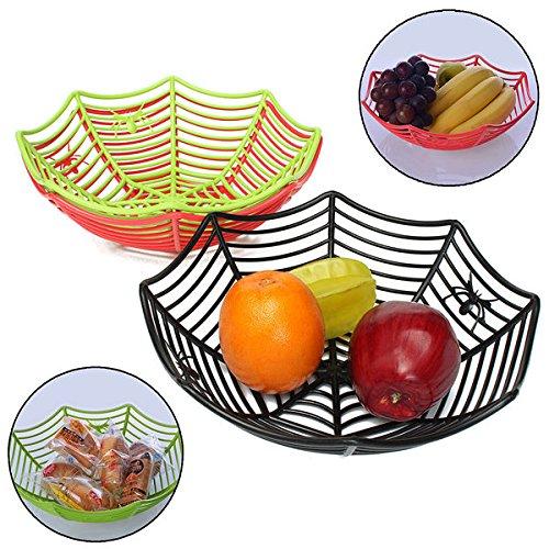 nnen Netz Früchte Süßigkeiten Korb Spiderweb Halloween Bowl Party Decor (Halloween-korb)
