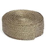 AUDEW 5cm x15m Bande Thermique Tissu Collecteur D'échappement Isolant Heat Wrap Haute Température