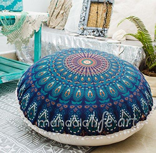 dekor-indian-peacock-blue-organic-cotton-puff-bodenkissenbezug