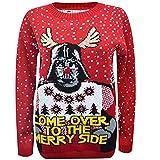 Mujer Hombre Mujer Unisex Jersey de Navidad Holgado Jersey Navidad 3d NOVEDAD Star Wars Yoda OSCURO Vader elfo reno retro jersey vintage 70 - OSCURO Vader ROJO, Small / Medium