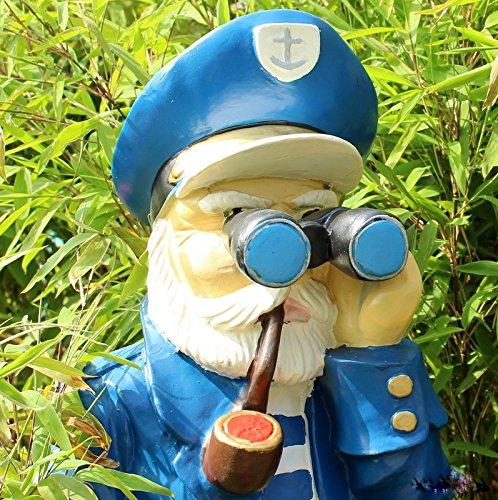 Opa mit Fernglas und Hut Seemann Spanner Dekofigur Heckengucker Gartenfigur (Matrosen Hüte In Der Masse)