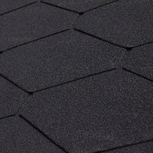 10er Pack Dachschindeln Dreieck Schwarz 10x 3 m² = 30 m²