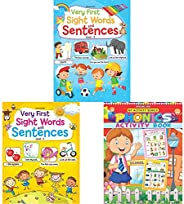 Very First Sight Words Sentences Level - 2 + Very First Sight Words Sentences Level - 1 + My Activity- Phonics