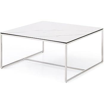 Massimilano Couchtisch Wohnzimmertisch Mit Keramik Tischplatte Weiss