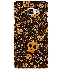Chiraiyaa Designer Digital Printed Premium Back Cover Case for Samsung Galaxy J7 Prime (Skull outline pattern) (Multicolor)