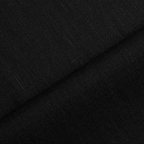 www.aktivstoffe.de Holmar - Leinen Stoff Meterware - 100% Leinen - vorgewaschen (schwarz) (Leinen-schwarz Tischdecke)