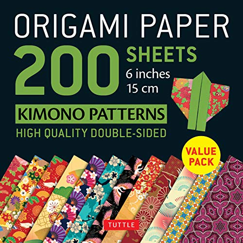 Origami Paper 200 Sheets Kimono Patterns 6 (15 CM): Tuttle Origami Paper: High-Quality Double-Sided Origami Sheets Printed with 12 Patterns (Instruct