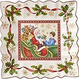 Villeroy & Boch Toy's Fantasy Ciotola Quadrata Babbo Natale, Porcellana, Bianco, 23x23x0.1 cm