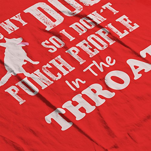 I Hug My Dog So I Dont Punch People Men's Vest Red