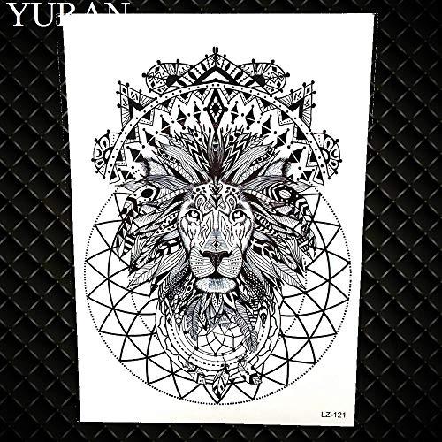 Gvdtykjf adesivo tatuaggio carpa design flash tatuaggi impermeabili tatuaggi finti cranio pesce modello di fiore 21x15 cm grande body art tatuaggi braccio ghb792