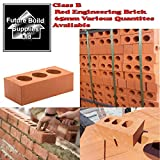 Perforated Class B Red Engineering Brick 65mm Length 215MM X Width 102MM x 100 DELIVERIES TO MAINLAND UK ONLY