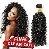 CLAROLAIR 8a non trasformati brasiliani capelli vergini umani fasci afro Kinkys capelli ricci vergini non trasformati remy umano capelli estensioni un fascio di colore naturale (100 +/-5g)/20 pollici