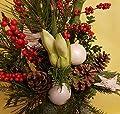 """WEIHNACHTSSTRAUß   Blumenstrauß   Tanne AMARYLLIS weiß rot   WEIHNACHTSDEKO Weiß  """"Weihnachtsflair"""" von Flora Trans auf Du und dein Garten"""