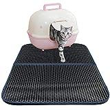 Cat Litter Mat, Zellar Double-Layer Honeycomb Cat Feeding Mat, Litter-Trapping, Water-Proof, Non-Toxic Soft, Light EVA Foam Rubber