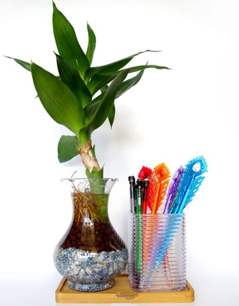 YANFEI Penna Pot Portapenne di plastica della penna Pot European Fashion Trasparente Vaso Office Des