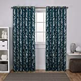 Best Home Fashion Thermal Blackout Curtains - Exclusive Home Curtains Watford Distressed Metallic Print Thermal Review