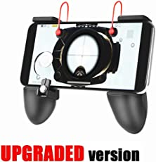 Mobile Game Controller Triggers Gamepad - KACOOL 3-in-1 Shoot Aim Move Buttons PUBG Fortnite Mobile Controller with Gaming Trigger, Ergonomic Design Gaming Grip and Gaming Joysticks for Android iOS Phones - [Upgrade Version Bundle]