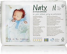 Naty by Nature Babycare 243834 Ökowindeln - Größe 0 Newborn, 4.5 kg, 4er Pack, 4 x 26 Stück
