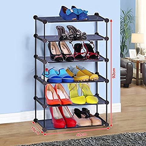X-J Simple combination of iron multi - storey footwear home living room dormitory balcony house storage shelves small storage ( Size : 42*19*92