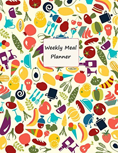 Weekly Meal Planner: Glossy Softback- A Years Worth of Pages - Week to View- Large Notebook Journal- Meal Planning- Diet Journal- Colourful Cover por Paddox Publishing