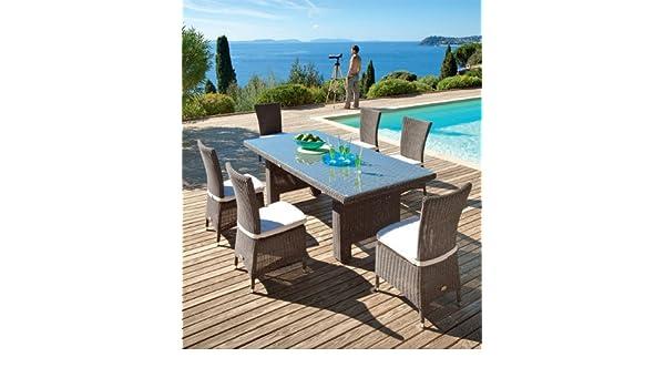 Table et chaises Hespéride SAMOA: Amazon.fr: Jardin