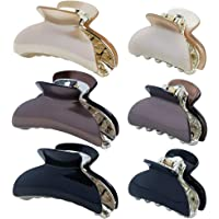 6Pcs Hair Claw Clips Non-Slip Strong Hold Clamp Grip Fashion Headwear Hair Clips Claw Clamp for Women Girls,9cm and 5cm