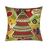 HUYURI Kissenbezug Happy Christmas Kissenbezüge Leinen Sofa Cartoon Kissenbezug Home Dekoration Kissenbezug Kissenbezug 18
