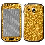 atFolix Samsung Galaxy S Duos 2 Skin FX-Glitter-Golden-Fleece Designfolie Sticker - Reflektierende Glitzerfolie