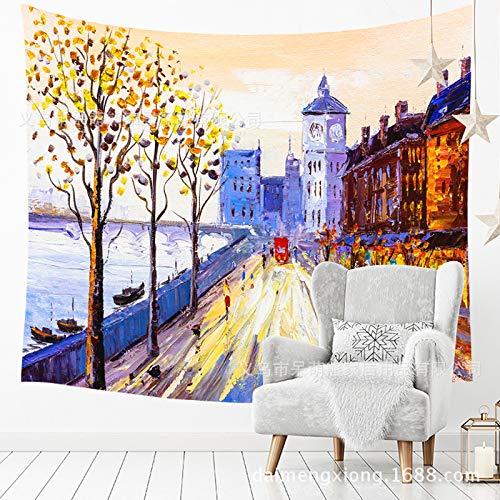 xkjymx Sala de Tela colgada Retro Europea y Estadounidense Dormitorio decoración Pintura Tapiz Pared Fondo Tela 210154 150 * 130 cm