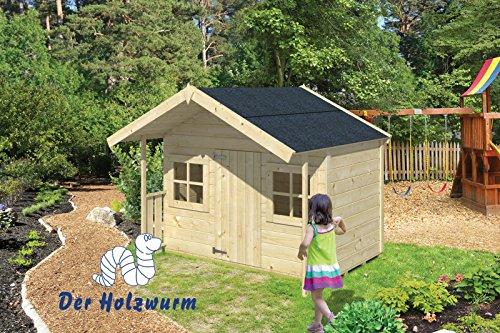 Casitas de madera para niños ALADDIN de 179x119 + 60 cms de porche
