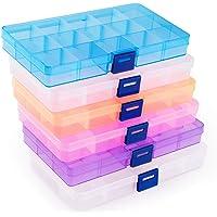 ilauke 6Pcs Boîte De Rangement, Transparents en Plastique Bijoux Container Accessoires Organisateur pour Collier…