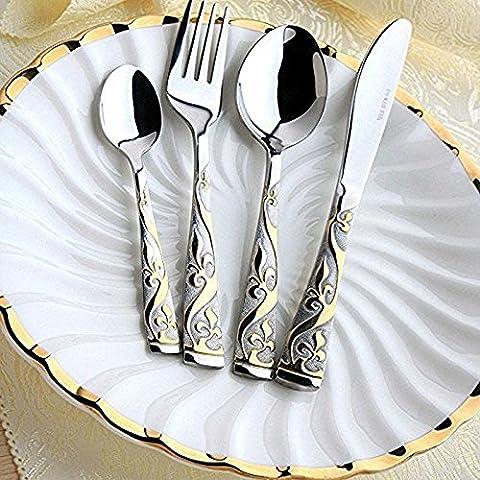 Midmade Luxury Flatware 4pcs Cutlery Set