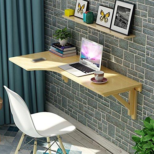 Eck-computer-schreibtisch (Drop-leaf Table Klapptisch L-Type Eck Computer-Schreibtisch Wandmontage Wand Esstisch Holz klappbar massiv Kinder Tisch Schreibtisch, Holz, Left, 80 * 60)