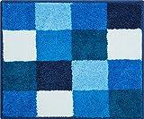 Grund Badteppich 100% Polyacryl, ultra soft, rutschfest, ÖKO-TEX-zertifiziert, 5 Jahre Garantie, BONA, WC-Vorlage o.A. 50x60 cm, blau