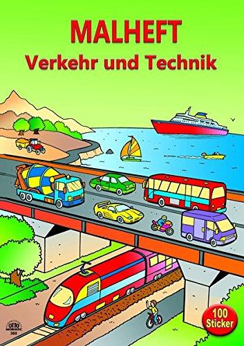 """Stickermalbuch """"Verkehr und Technik"""" incl. 100 Sticker"""