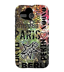 Love Paris 3D Hard Polycarbonate Designer Back Case Cover for Motorola Moto G :: Motorola Moto G (1St Gen)