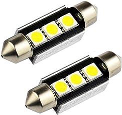 Runfon 2X KFZ Canbus Soffitte Innenraum 36mm 3 SMD LED Weiß 100% Neu