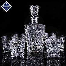 Bohemia Decanter Whisky Set Regalo Glacier, in cristallo e 6bicchieri
